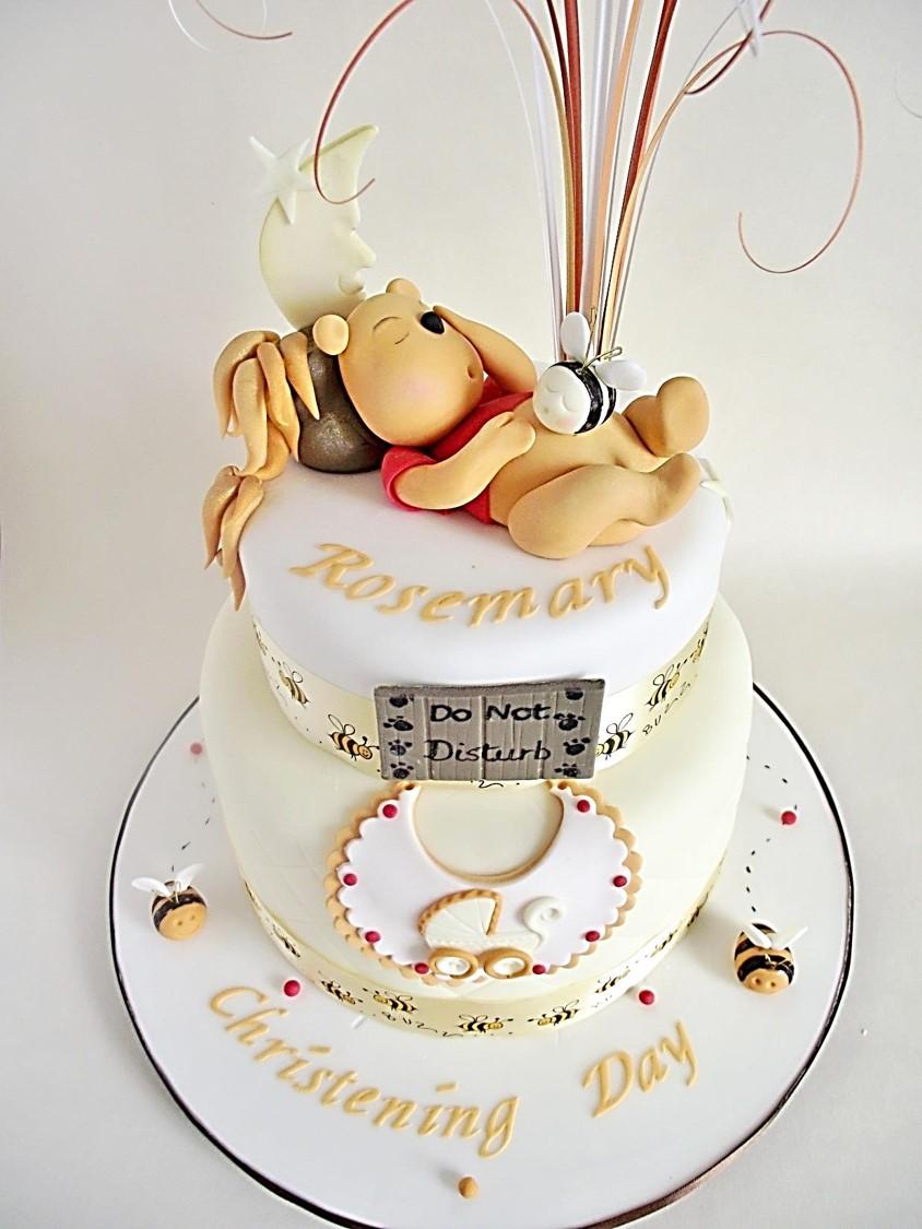 Boys Christening And Birthday Cake
