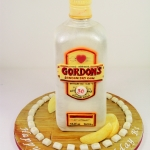 Gordon's Gin Bottle cake