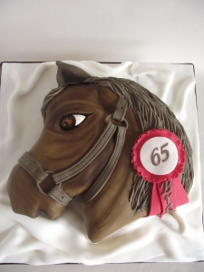 Horse Head Birtday Cake