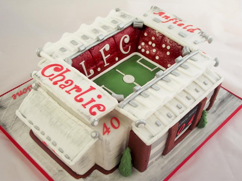 Anfield Stadium cake.