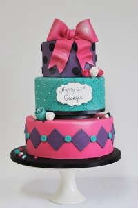 Ladies 21st Birthday cake