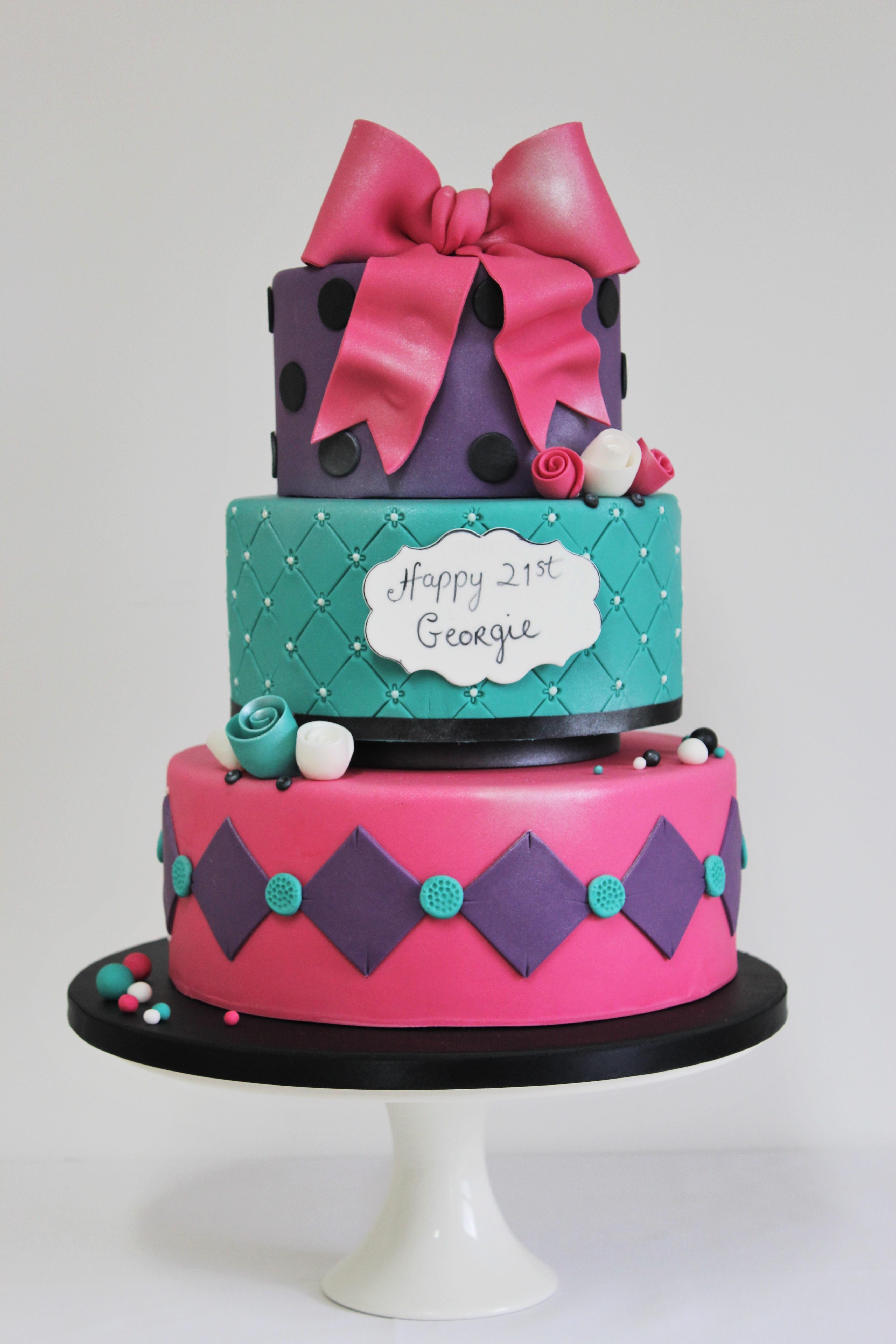 Ladies 21st Birthday cake