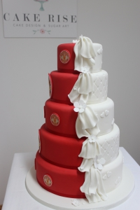 Man United themed Wedding Cake.