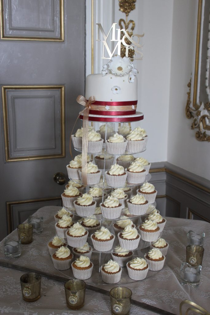 Markree Castle Wedding cupcakes.