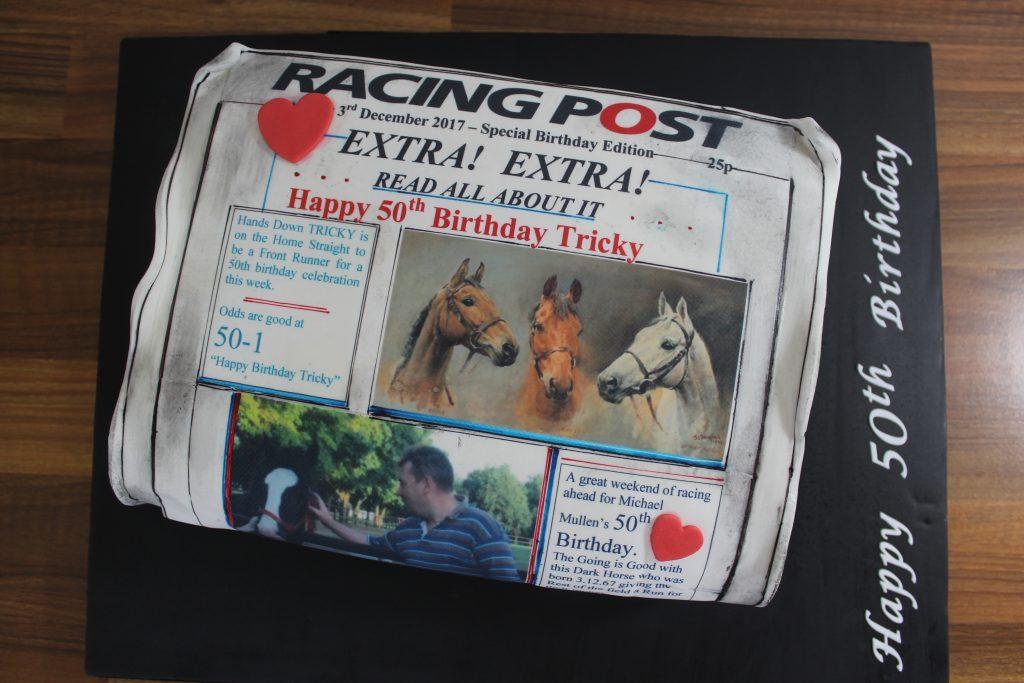 Racing post cake